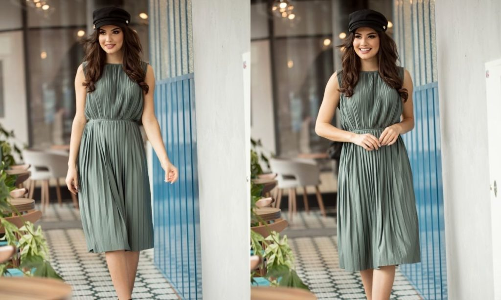 best summer dresses- halter midi dress